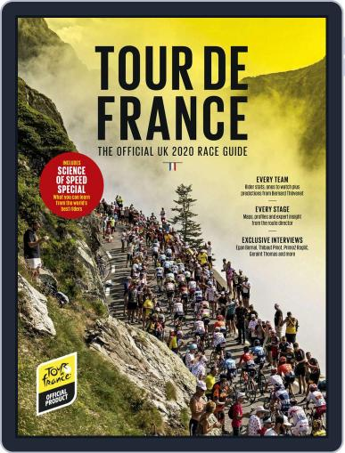 Official Tour De France Race Guide Magazine 2020 August 13th, 2020 Digital Back Issue Cover