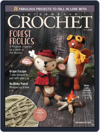 Interweave Crochet August 13th, 2020 Digital Back Issue Cover