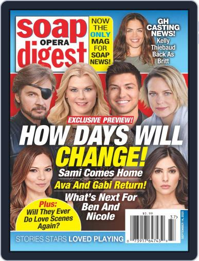 Soap Opera Digest September 14th, 2020 Digital Back Issue Cover