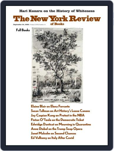 The New York Review of Books September 24th, 2020 Digital Back Issue Cover