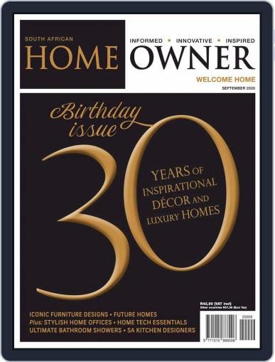 South African Home Owner (Digital) September 1st, 2020 Issue Cover