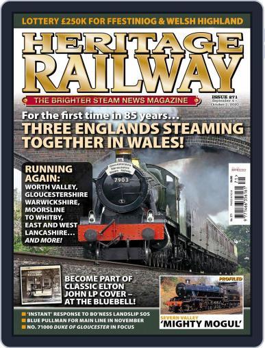 Heritage Railway September 1st, 2020 Digital Back Issue Cover