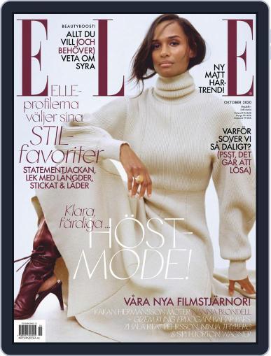 ELLE Sverige October 1st, 2020 Digital Back Issue Cover