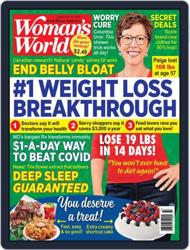 Woman's World September 14th, 2020 Digital Back Issue Cover