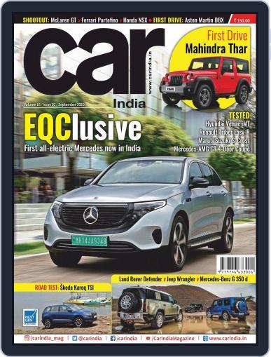 Car India September 1st, 2020 Digital Back Issue Cover