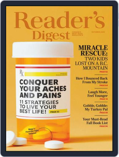 Reader's Digest Canada October 1st, 2020 Digital Back Issue Cover