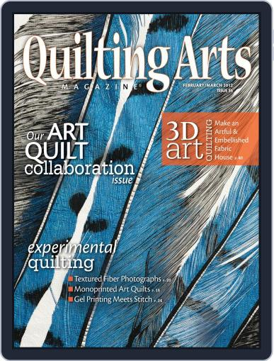 Quilting Arts January 25th, 2012 Digital Back Issue Cover