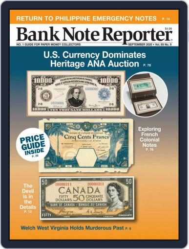 Banknote Reporter September 1st, 2020 Digital Back Issue Cover