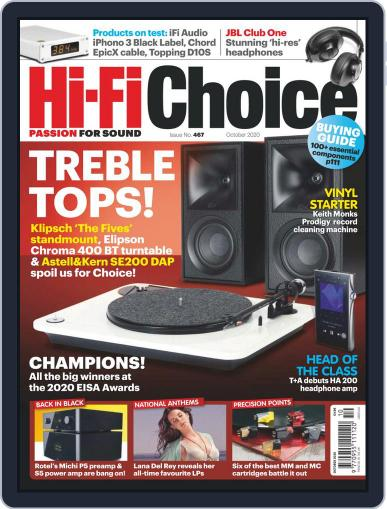 Hi-Fi Choice October 1st, 2020 Digital Back Issue Cover