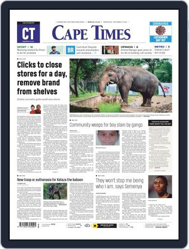 Cape Times (Digital) September 9th, 2020 Issue Cover