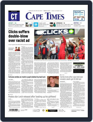 Cape Times September 8th, 2020 Digital Back Issue Cover