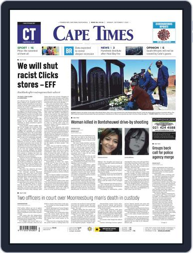 Cape Times September 7th, 2020 Digital Back Issue Cover