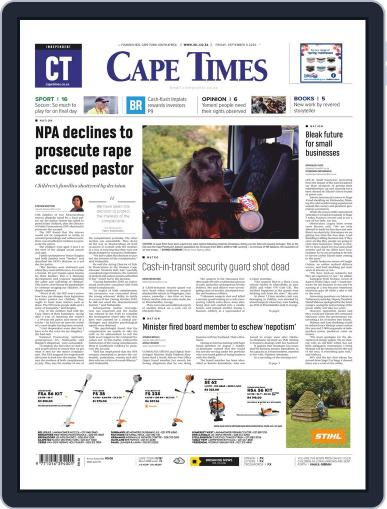 Cape Times September 4th, 2020 Digital Back Issue Cover