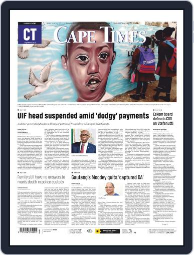 Cape Times September 3rd, 2020 Digital Back Issue Cover