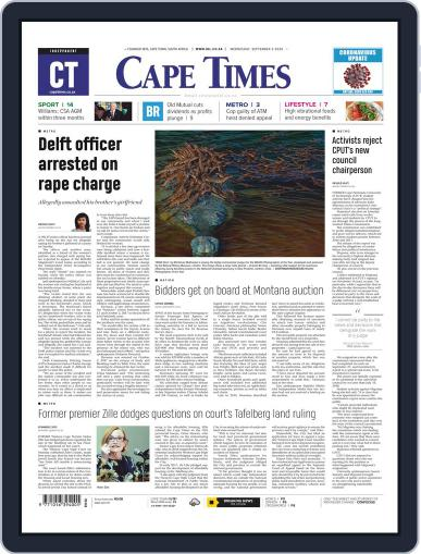 Cape Times September 2nd, 2020 Digital Back Issue Cover