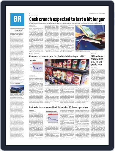 Cape Times September 1st, 2020 Digital Back Issue Cover