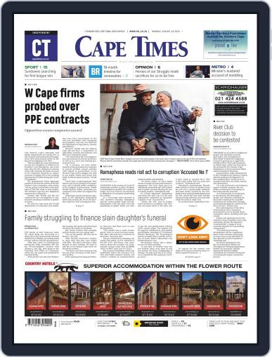 Cape Times August 24th, 2020 Digital Back Issue Cover