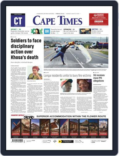 Cape Times August 20th, 2020 Digital Back Issue Cover