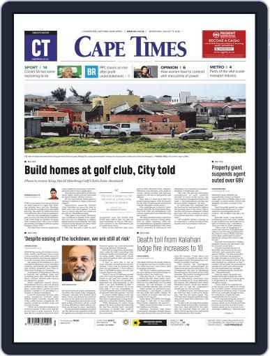 Cape Times (Digital) August 19th, 2020 Issue Cover