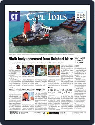 Cape Times (Digital) August 18th, 2020 Issue Cover