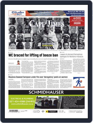 Cape Times August 17th, 2020 Digital Back Issue Cover