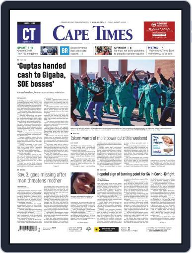 Cape Times August 14th, 2020 Digital Back Issue Cover