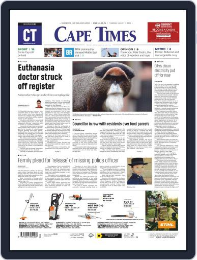 Cape Times August 13th, 2020 Digital Back Issue Cover