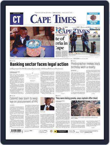 Cape Times (Digital) August 7th, 2020 Issue Cover