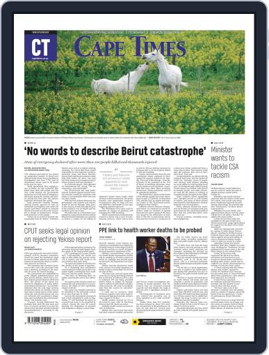 Cape Times August 6th, 2020 Digital Back Issue Cover