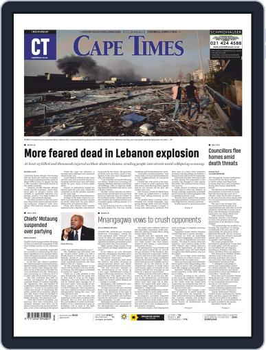 Cape Times August 5th, 2020 Digital Back Issue Cover