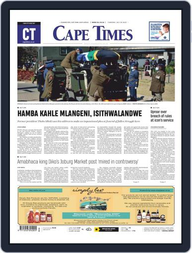 Cape Times July 30th, 2020 Digital Back Issue Cover