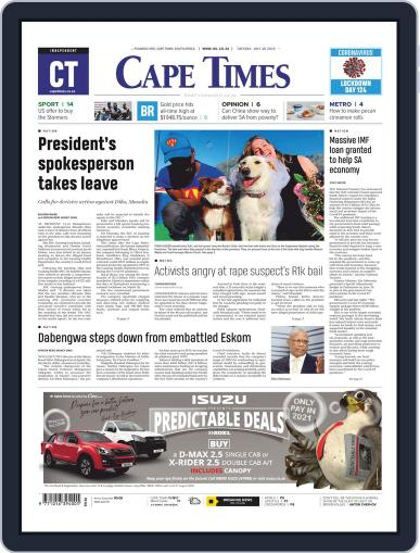 Cape Times July 28th, 2020 Digital Back Issue Cover