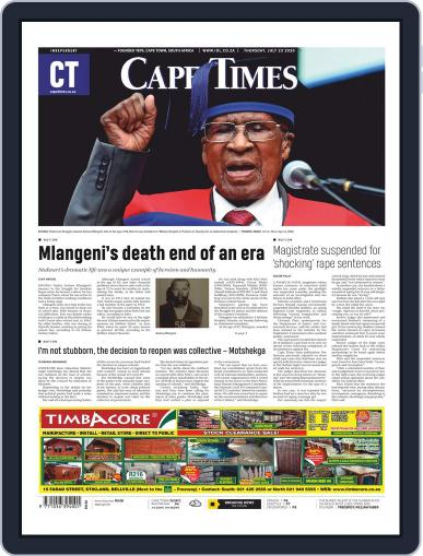 Cape Times July 23rd, 2020 Digital Back Issue Cover