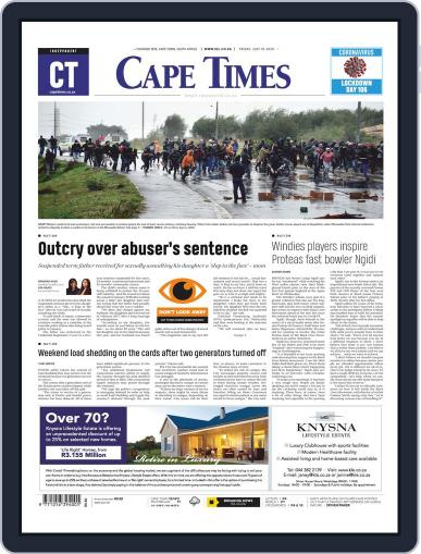 Cape Times July 10th, 2020 Digital Back Issue Cover