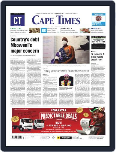 Cape Times June 25th, 2020 Digital Back Issue Cover