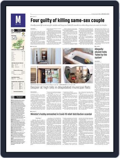 Pretoria News August 27th, 2020 Digital Back Issue Cover