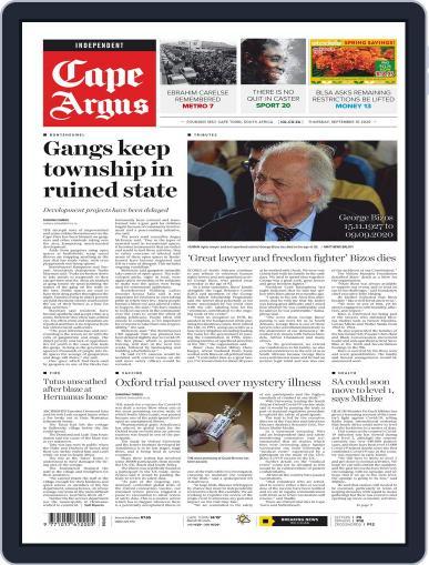 Cape Argus September 10th, 2020 Digital Back Issue Cover