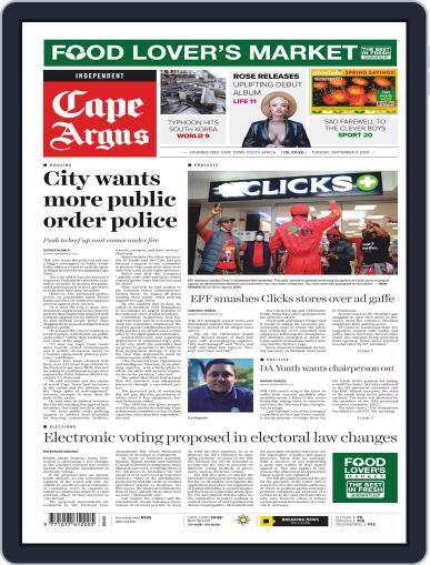 Cape Argus September 8th, 2020 Digital Back Issue Cover