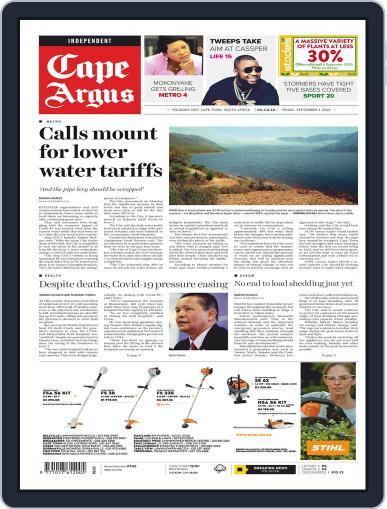Cape Argus September 4th, 2020 Digital Back Issue Cover
