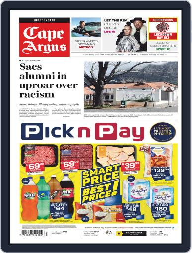 Cape Argus August 25th, 2020 Digital Back Issue Cover