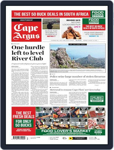 Cape Argus August 24th, 2020 Digital Back Issue Cover