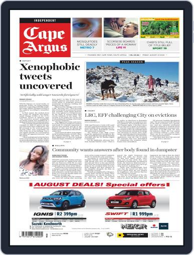 Cape Argus (Digital) August 21st, 2020 Issue Cover