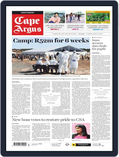 Cape Argus August 20th, 2020 Digital Back Issue Cover
