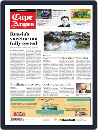 Cape Argus August 13th, 2020 Digital Back Issue Cover