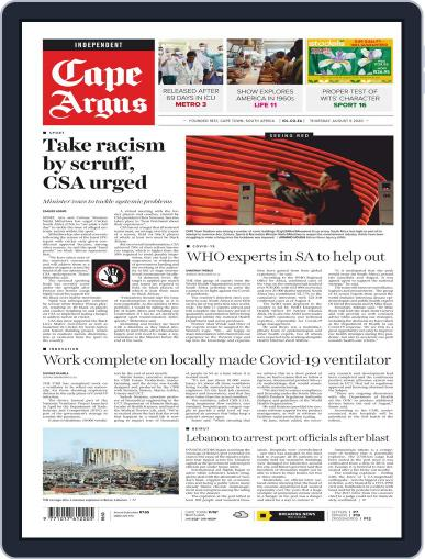 Cape Argus (Digital) August 6th, 2020 Issue Cover