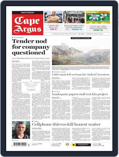 Cape Argus August 5th, 2020 Digital Back Issue Cover