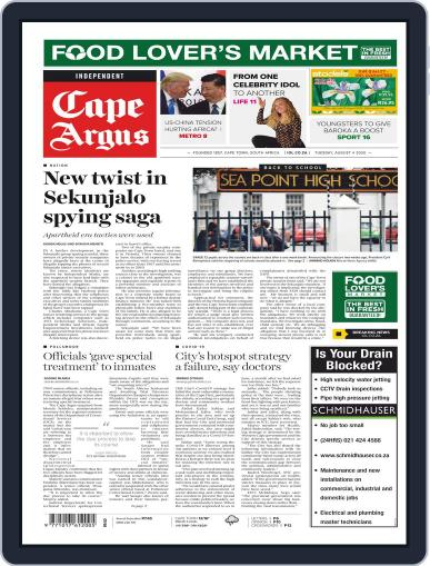 Cape Argus (Digital) August 4th, 2020 Issue Cover