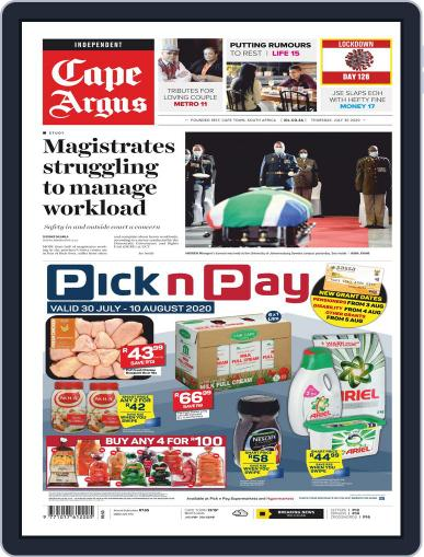 Cape Argus (Digital) July 30th, 2020 Issue Cover