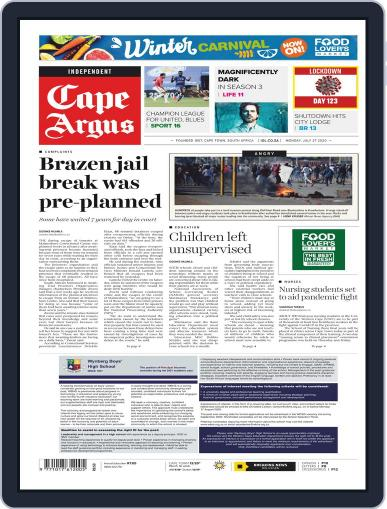 Cape Argus (Digital) July 27th, 2020 Issue Cover