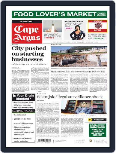 Cape Argus July 21st, 2020 Digital Back Issue Cover